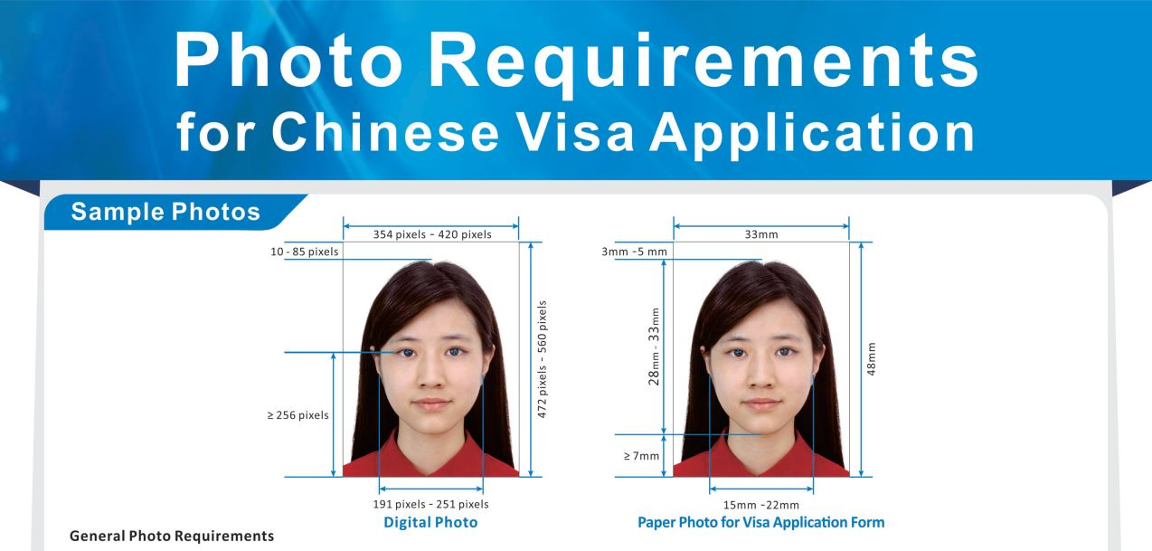 Chinese visa photo requirement samplel photos 1