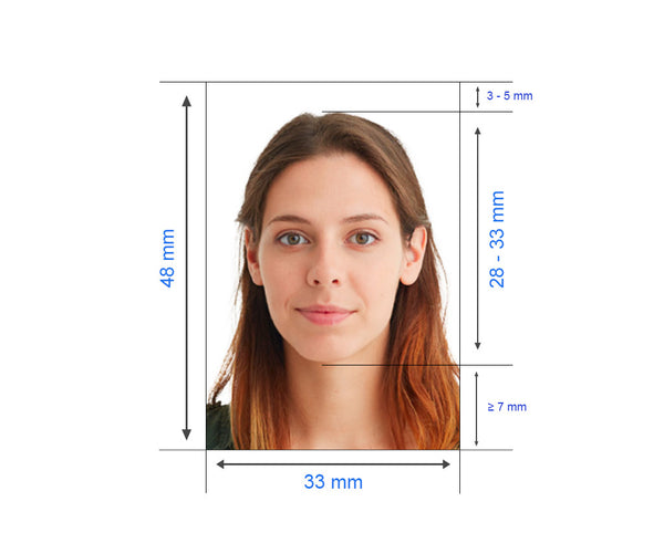 Chinese Visa photo measurement
