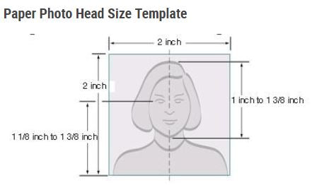 US Passport Photo Head Size