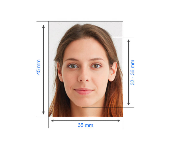 Russian visa photo size requirement 35x45mm and head size is between 32-36mm