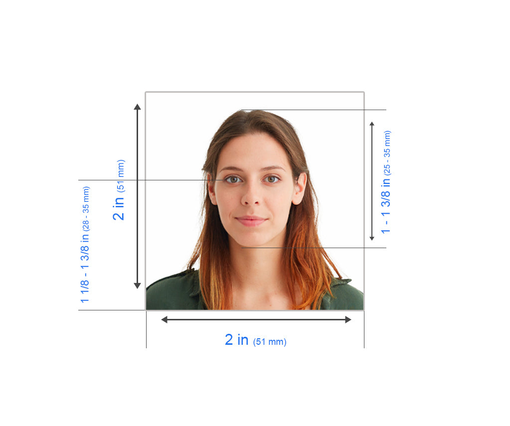 US Passport photo measurement