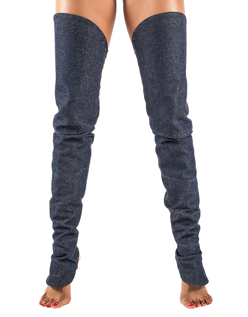 The Sky High Collection- Denim - The Leg Glove