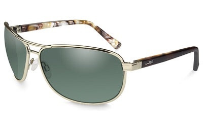 Wiley X, Klein, Gold frame, Polarized Green Lens