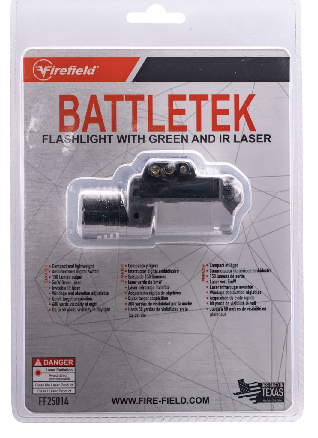 Firefield BattleTek Laser/Flashlight LED 150 Lumens