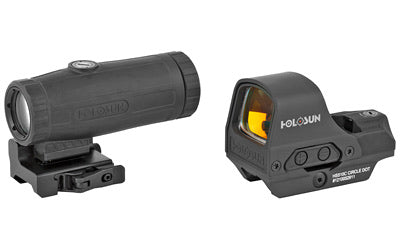 Holosun HS10C Open Reflex Circle Dot Sight and HM3X Magnifier Combo