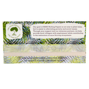 HAZO King Size Slim Unbleached Hemp Rolling Papers (Single Pack)