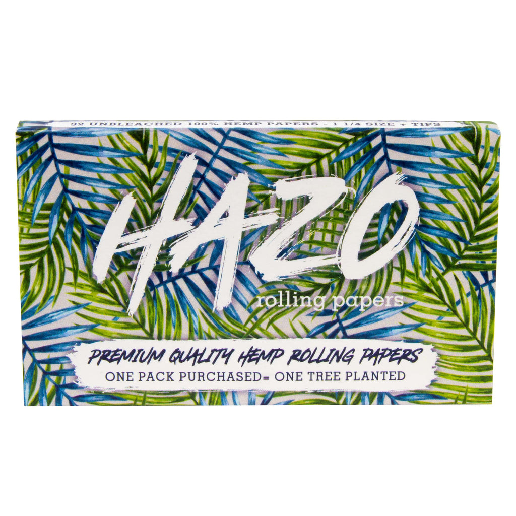 1 1/4 Size Unbleached Hemp Rolling Papers + Tips