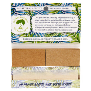 Box of 20 magnetic enclosure 1 1/4 unbleached hemp rolling papers