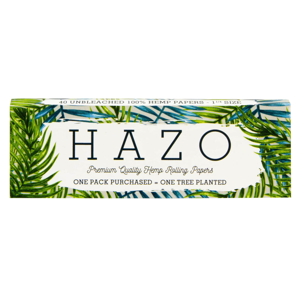 ONE PACK OF HAZO 1-1/4 UNBLEACHED HEMP ROLLING PAPERS