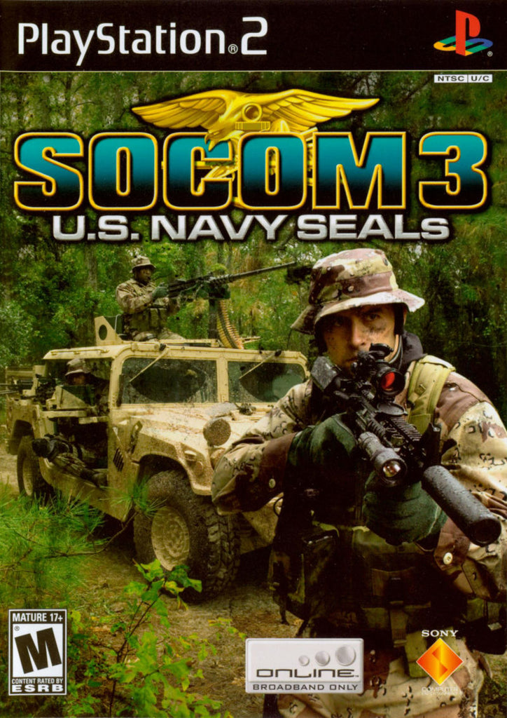SOCOM III US Navy Seals - Playstation 2 (Complete in Box)