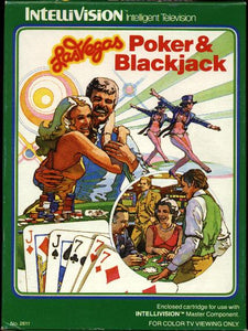 Las Vegas Poker & Blackjack - Intellivision (Complete in Box)
