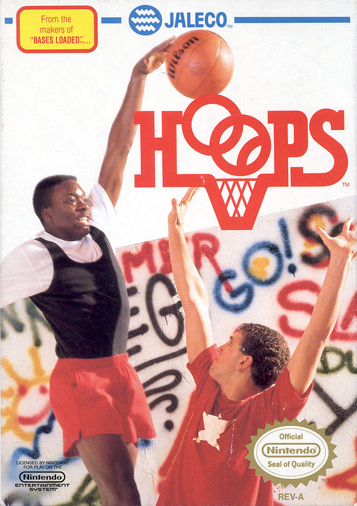 Hoops - NES (Game Only, Worn Label)