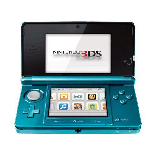 Nintendo 3DS Aqua Blue - Nintendo 3DS (System Bundle)