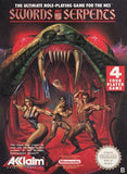 Swords and Serpents - NES (Complete in Box)