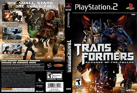 Transformers: Revenge of the Fallen - Playstation 2 (Complete In Box)