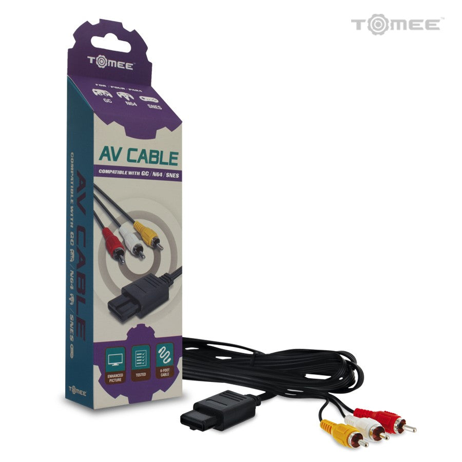 AV Cable for GameCube/ N64/ SNES - Super Nintendo (Cable Only)