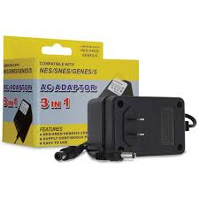 3-in-1 NES/SNES/Genesis AC Adapter -