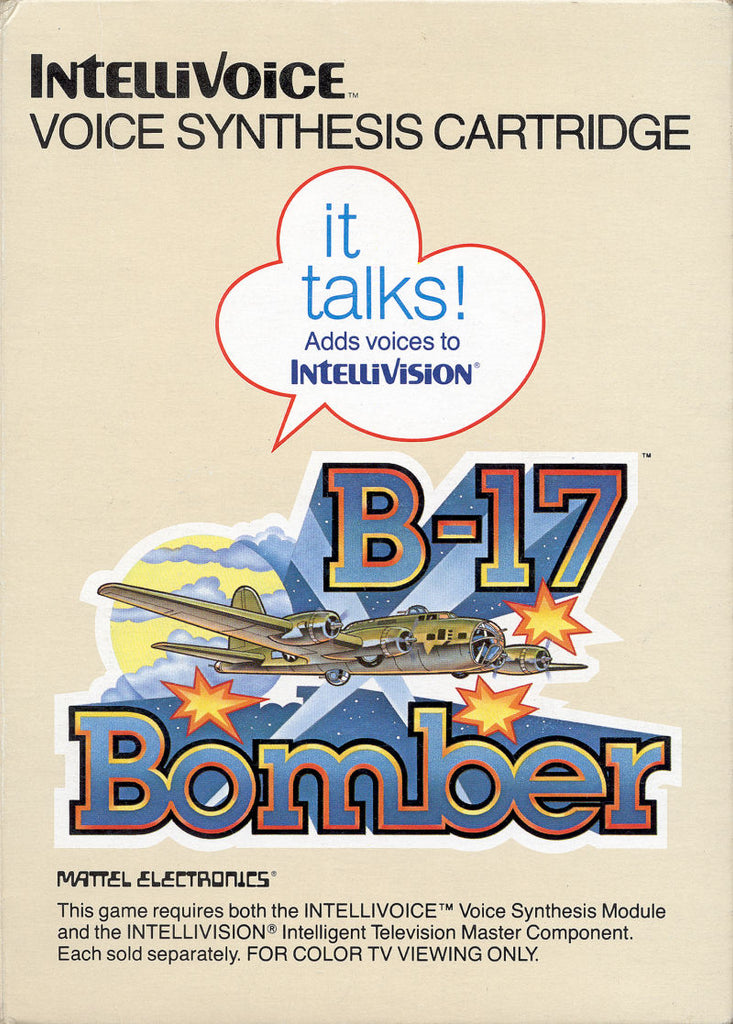 B-17 Bomber - Intellivision (Complete In Box)