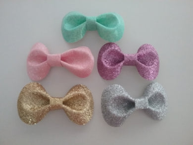 Glitter lola bow hair clip - Little ones kingdom