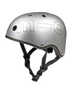 Micro helmet metallic silver - Little ones kingdom