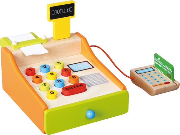 Cash Register - Wooden Toy - Little ones kingdom