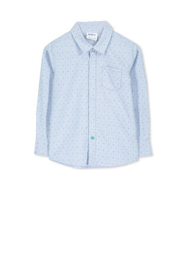 Chambray spot Boys shirt - Little ones kingdom