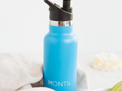 MontiiCo Mini Drink Bottle - Blue