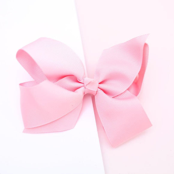 Pink Grosgrain bow - Little ones kingdom