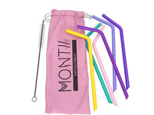MontiiCo Silicone Straw Set - Pink