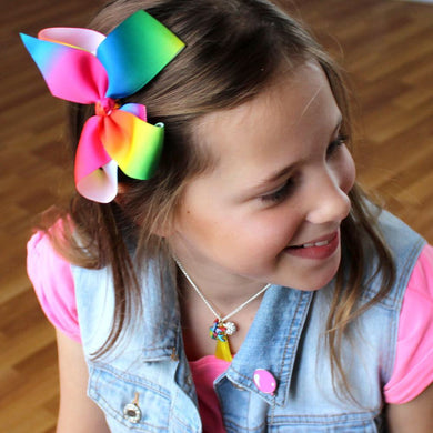 Neon Grosgrain bow - Little ones kingdom