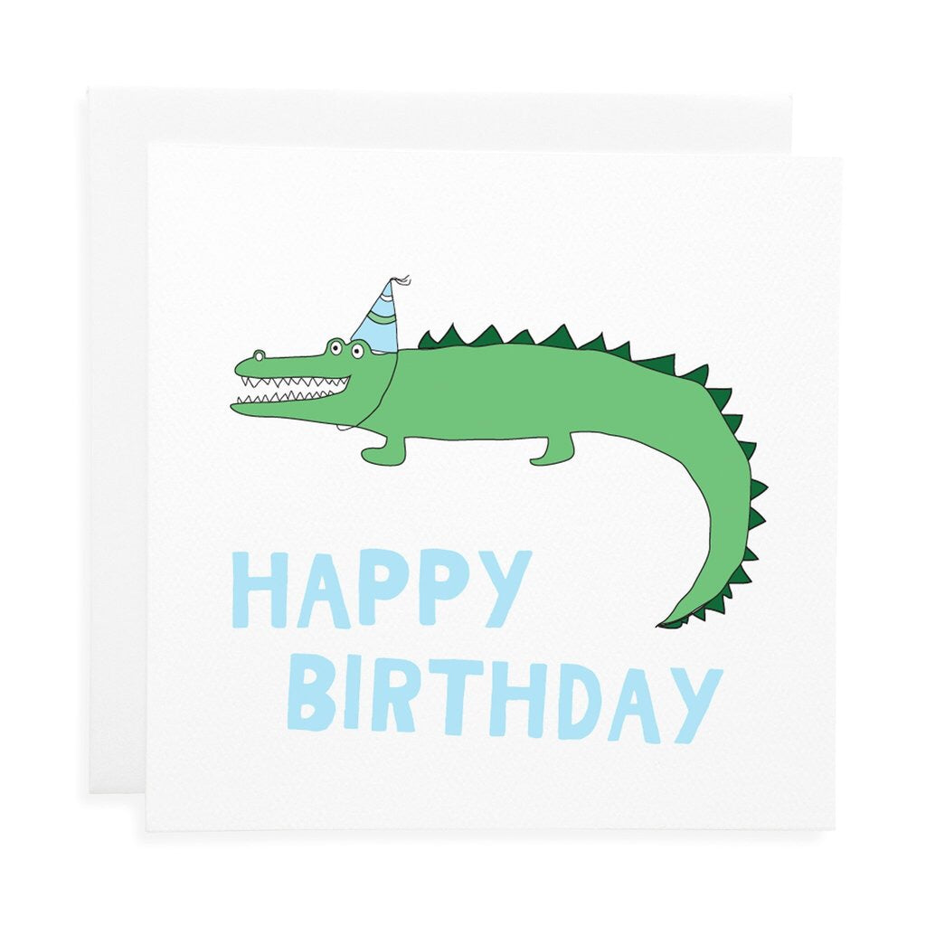 Crocodile birthday card - Little ones kingdom