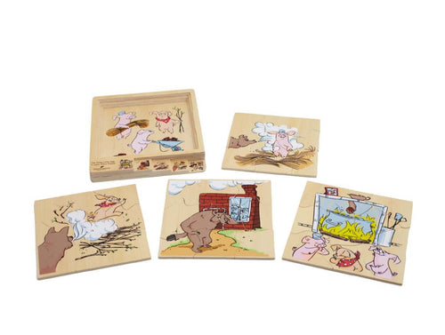 Puzzle 3 Little Pigs - Little ones kingdom