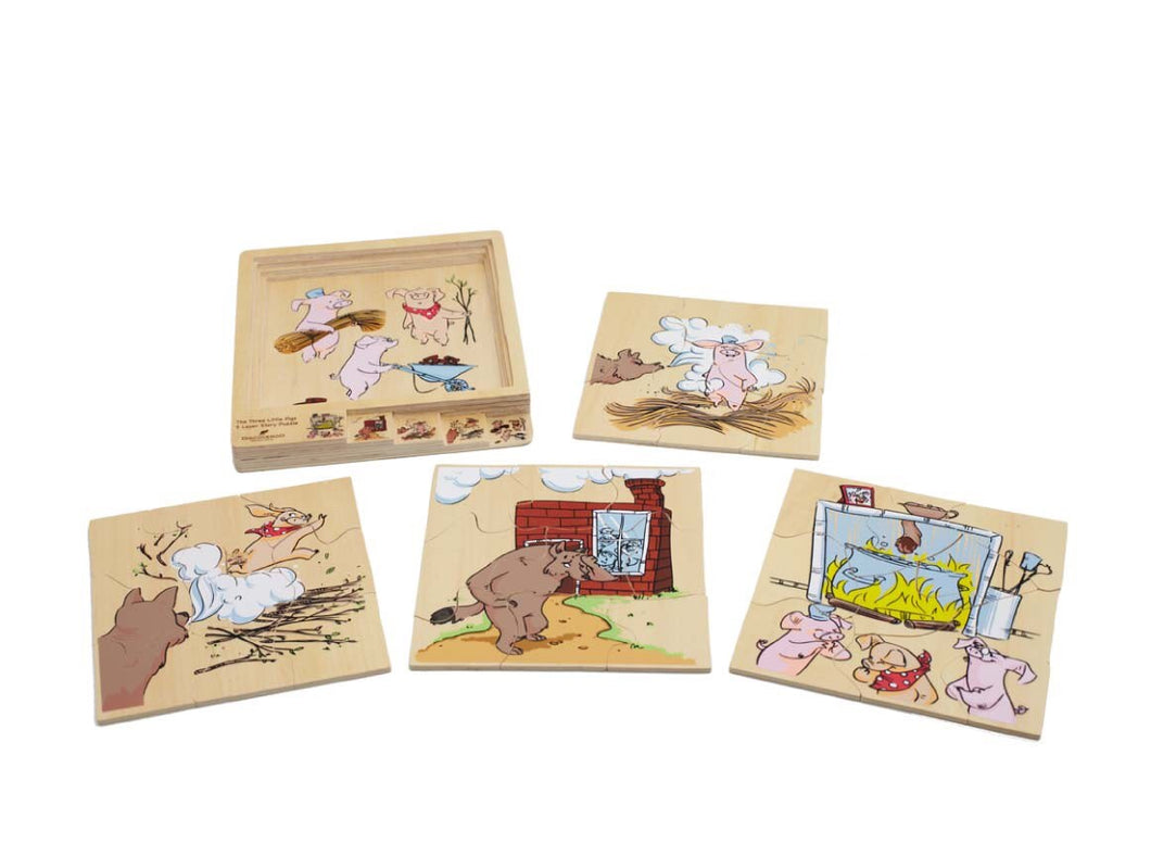 4 Layer Story Puzzle- 3 Little Pigs