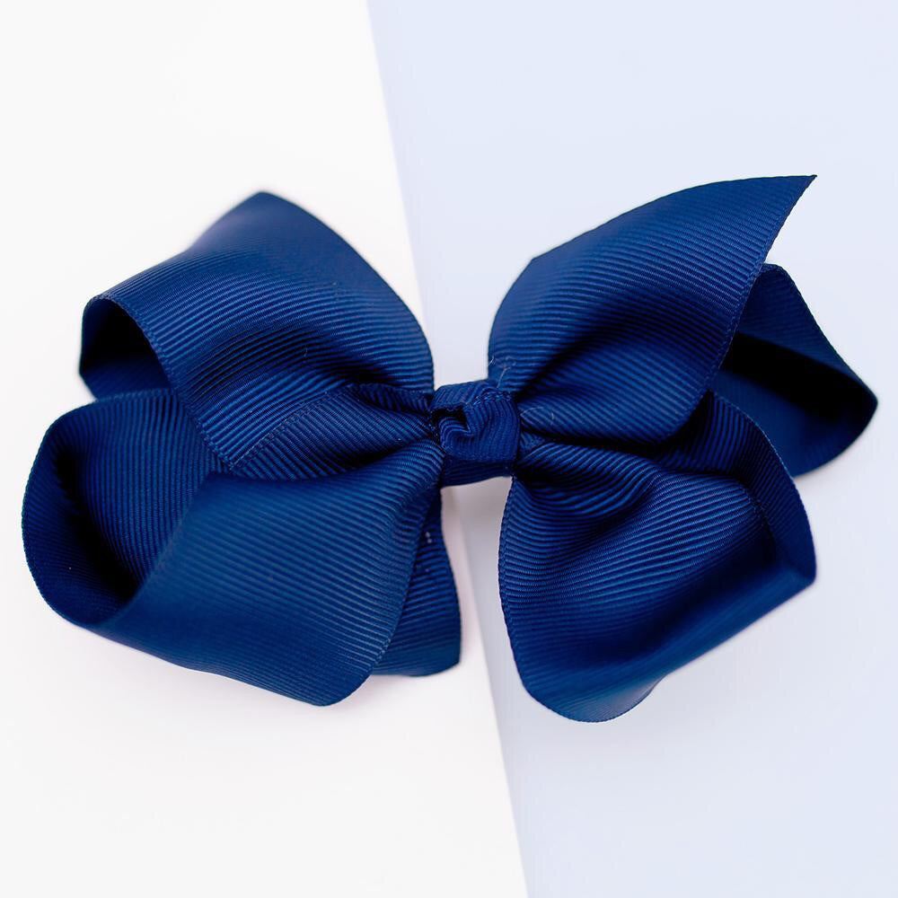 Navy Grosgrain bow - Little ones kingdom