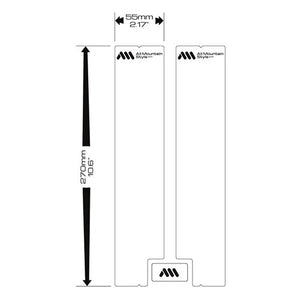 ALL MOUNTAIN STYLE AMS FORK GUARD CLEAR / SILVER