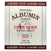 Load image into Gallery viewer, Natural Albumin Forte Deer Horn Royal Jelly - 1500mg/200 Softgel 내추럴 알부민 포르테 (알부민 골드)