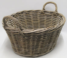 Rattan Oval Washing Basket