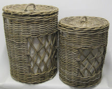 Rattan Diamond Open Weave Baskets