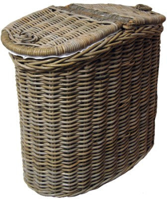 Rattan Dual Laundry Hamper  with Handles