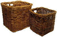 Natural Rattan Log Baskets