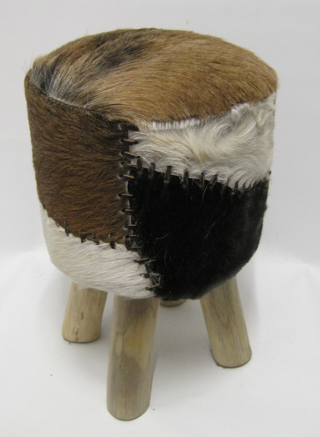 NEW!! Large Round Furry Stool