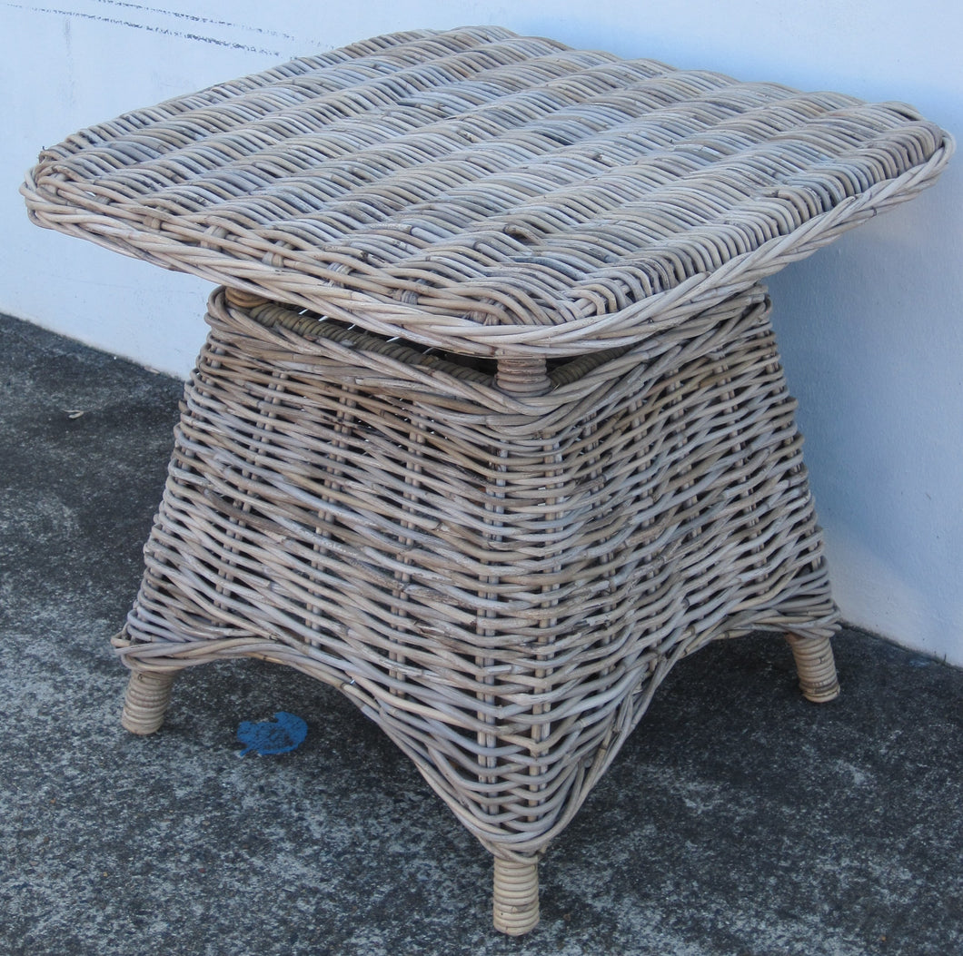 Square Grey Rattan Coffee Table