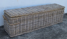 NEW!! Extra Long Kubu Grey Rattan Chest