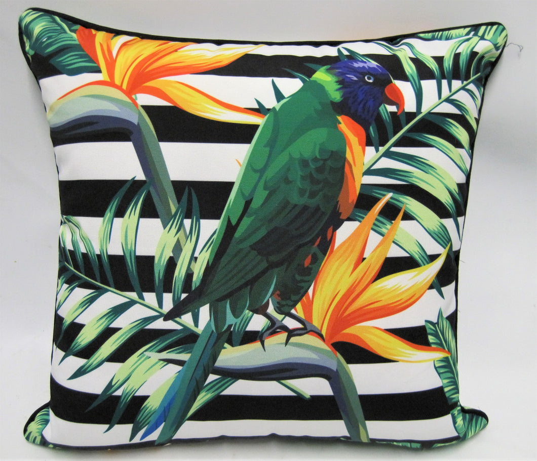 Water Resistant Rainbow Lorikeet Cushion Cover