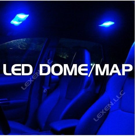 2 Blue Led Dome Map Interior Light Package (9 smd) for Chevrolet GM vehicles