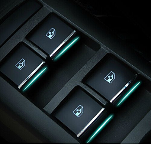 9 Moon Chrome Window Lift Buttons Decoration Sequins for Chevrolet Chevy Cruze
