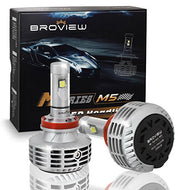 BROVIEW M5 44W High Output 10000k 5 Colors LED Headlights - 6000LM H8 H11 H9 Conversion Kit Bulbs - Cree Chip - PnP - Replaces Halogen/Xenon HID Headlights - (2pcs/set)