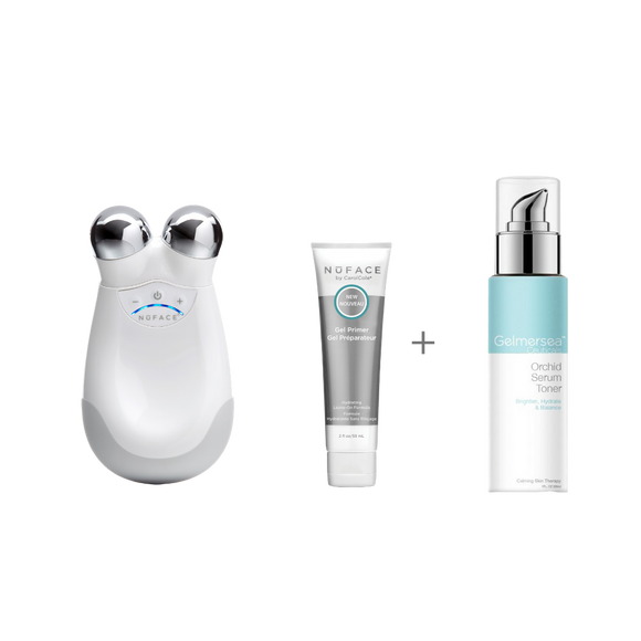 NuFace Trinity Facial Toning Device + Gelmersea Orchid Serum Toner