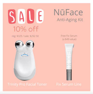 NuFace Trinity Pro Facial Toning Device + Free Fix Line Serum