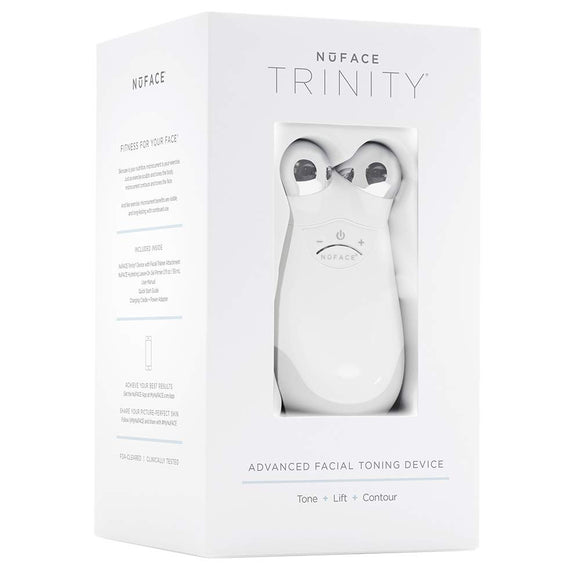 NuFace Trinity Pro  | Trinity Facial Trainer Device + Hydrating Leave-On Gel Primer | Skin Care Device to Lift Contour Tone Skin + Reduce Look of Wrinkles | FDA-Cleared At-Home System